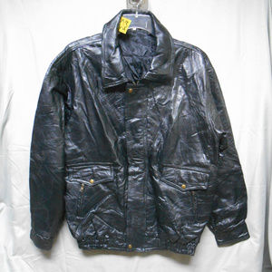 Other - NWOT black leather jacket US Army men's XXL